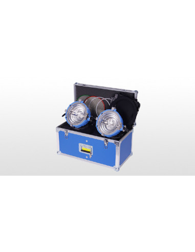 Zestaw oświetleniowy Arrilite 2000 Plus, wrota, filtry, walizka, złącza